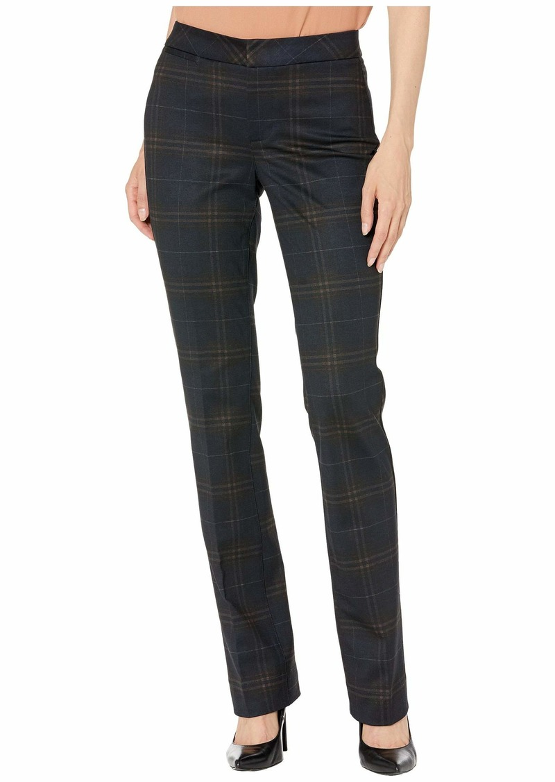 NYDJ Slim Trousers in Oaklan Plaid