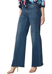 NYDJ Teresa Wide Leg Jeans with Fray Hem in Lazaro
