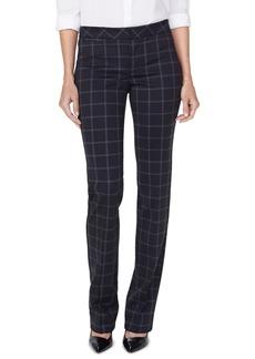 NYDJ Windowpane Print Slim Fit Trousers