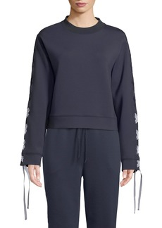 Nylora Darcy Activewear Sweatshirt Top with Lace-Up Sleeves