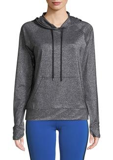 Nylora Jarvis Hooded Metallic Pullover Sweatshirt