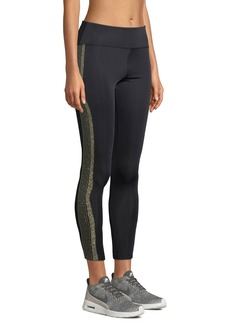 Nylora Tribeca Metallic Racer-Stripe Activewear Leggings