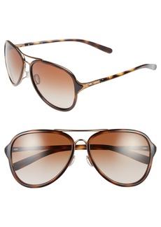 Oakley 'Kickback' 58mm Aviator Sunglasses