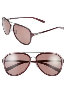 Oakley 'Kickback' 58mm Polarized Aviator Sunglasses