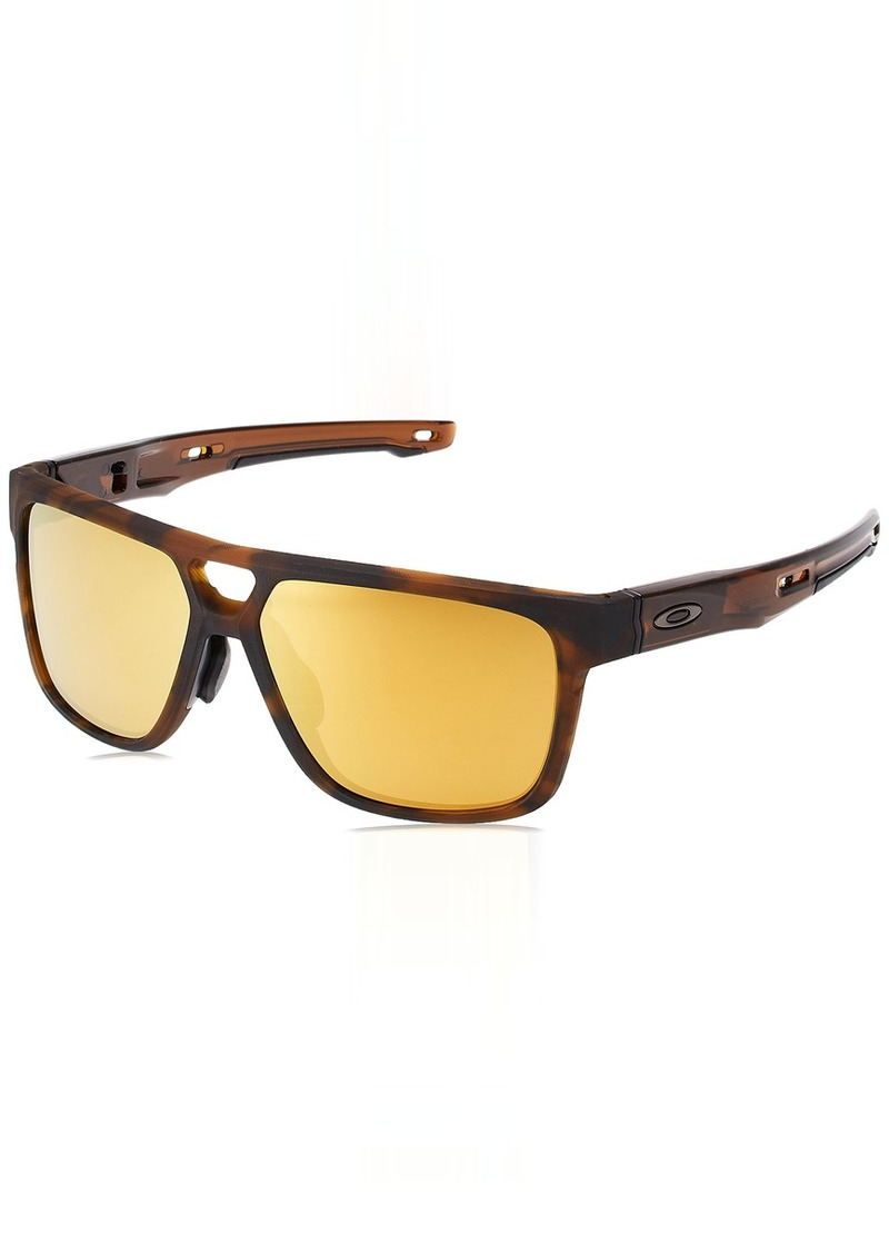 5077130380 Men s Crossrange Patch (a) Non-Polarized Iridium Rectangular Sunglasses  MATTE BROWN TORTOISE. Oakley