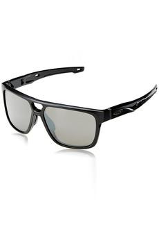 0ed0033874 Oakley Men s Crossrange Patch Non-Polarized Iridium Rectangular Sunglasses  60.0 mm