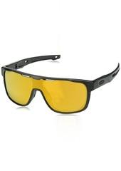 Oakley Men's Crossrange Shield Non-Polarized Iridium Rectangular Sunglasses  0 mm