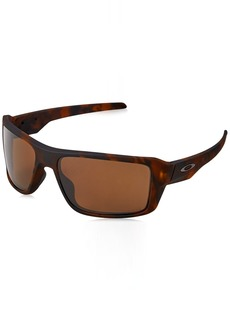 9ea8bfdb19 Oakley Men s Double Edge 0OO9380 Polarized Iridium Rectangular Sunglasses  MATTE TORTOISE
