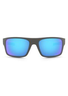 Oakley Men's Drop Point Polarized Rectangle Sunglasses, 61mm