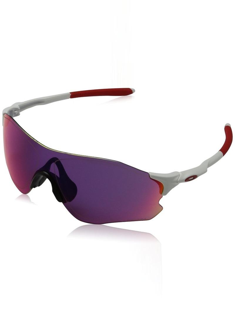 01f1027dbc Oakley Men s Evzero Path Non-Polarized Iridium Rectangular Sunglasses Matte  White w Prizm Road