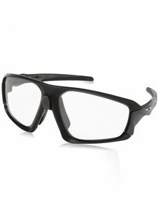 Oakley Men's Field Jacket Non-Polarized Iridium Rectangular Sunglasses MATTE BLACK 64.0 mm