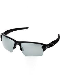 Oakley Men's Flak 2.0 Xl OO9188 Polarized Iridium Sunglasses Matte Black w/Black Iridium Polarized 59 mm
