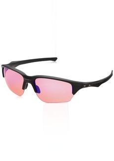 Oakley Men's Flak Beta Non-Polarized Iridium Rectangular Sunglasses MATTE BLACK 64.01 mm