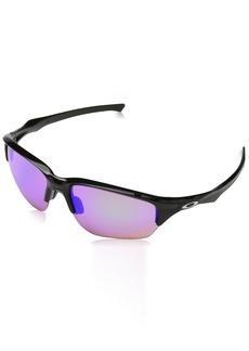 Oakley Men's Flak Beta Non-Polarized Iridium Rectangular Sunglasses Polished black 64 mm