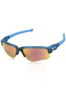 Oakley Men's Flak Draft Non-Polarized Iridium Rectangular Sunglasses AERO Grid Sky
