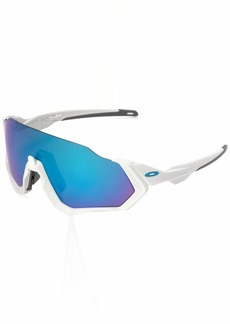 Oakley Men's Flight Jacket Non-Polarized Iridium Rectangular Sunglasses  0 mm