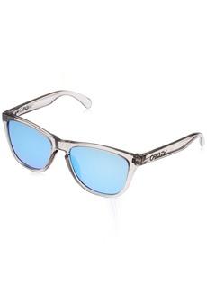 Oakley Men's Frogskins (a) Non-Polarized Iridium Rectangular Sunglasses Matte Black 54.02 mm