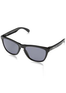Oakley Men's Frogskins (a) Polarized Iridium Rectangular Sunglasses /Grey 54 mm