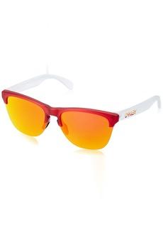 Oakley Men's Frogskins Lite Non-Polarized Iridium Round Sunglasses  63.2 mm