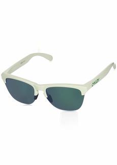 Oakley Men's Frogskins Lite Non-Polarized Iridium Round Sunglasses MATTE WHITE 63.2 mm