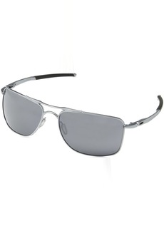 79f1f7bd64 Oakley Men s Gauge 8 Non-Polarized Iridium Rectangular Sunglasses 62.02 mm