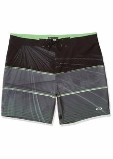 Oakley Men's Geometric Print Board Short 18″ - Flat Waist - Lace-up Closure - Quick-Drying Board Shorts – 4-Way Stretch Men's Swim Trunks
