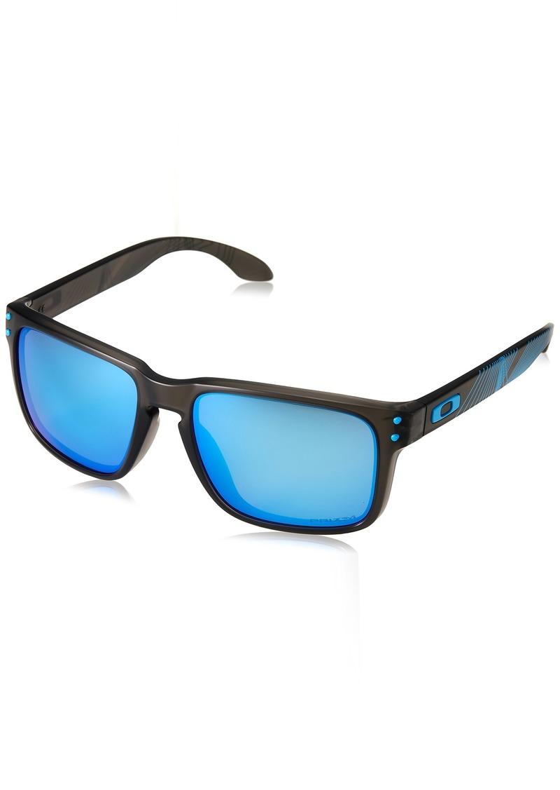 Oakley Men's Holbrook (a) Non-Polarized Iridium Rectangular Sunglasses MATTE GREY SMOKE AERO