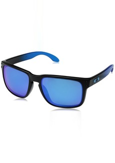 Oakley Men's Holbrook Iridium Square Sunglasses Fade w/Prizm Sapphire Polarized 57 mm