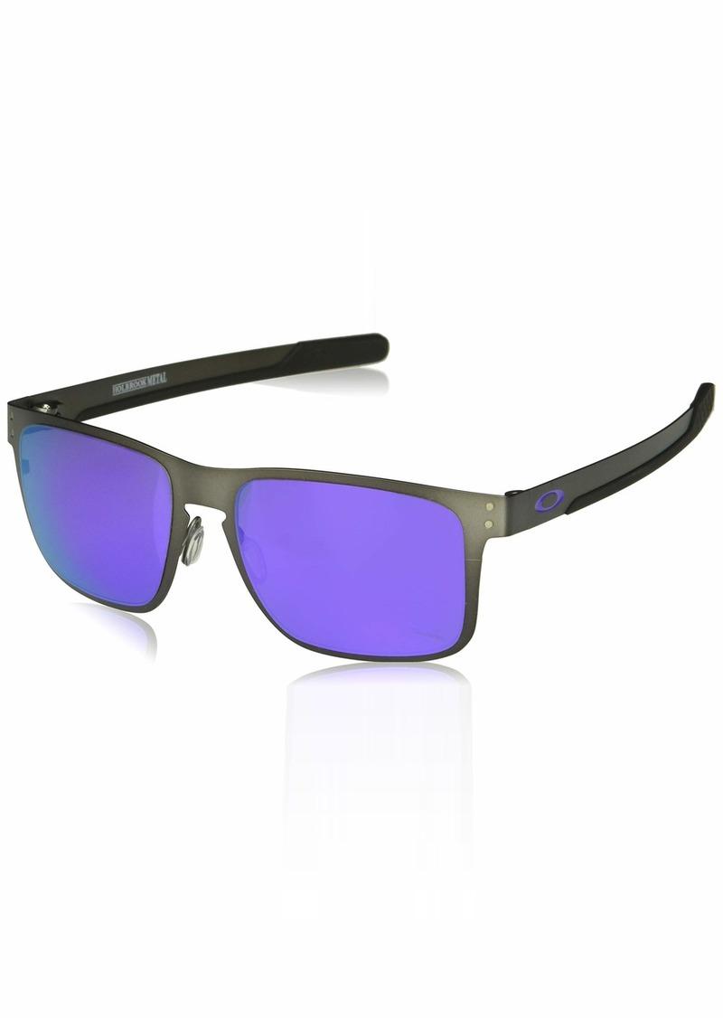 Oakley Men's Holbrook Metal Non-Polarized Iridium Square Sunglasses GUNMETAL