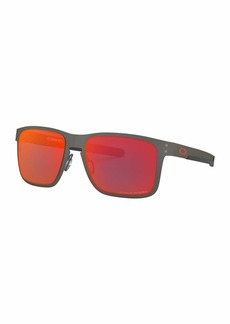 Oakley Men's Holbrook Metal Polarized Iridium Square Sunglasses ( 55 mm)