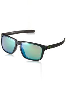 Oakley Men's Holbrook Mix (a) Non-Polarized Iridium Rectangular Sunglasses MATTE BLACK INK 57.0 mm