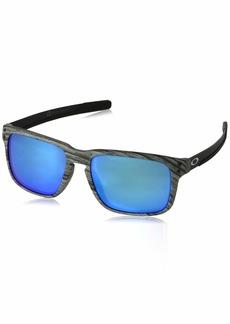 Oakley Men's Holbrook Mix Non-Polarized Iridium Rectangular Sunglasses FROSTWOOD 57.0 mm