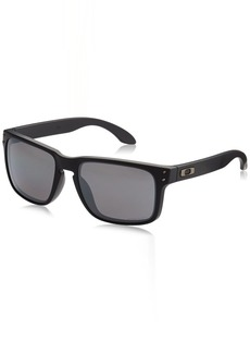 Oakley Men's Holbrook Polarized Iridium Square Sunglasses  with Prizm Black Polarized 55 mm