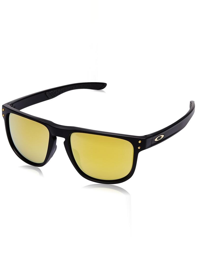 Oakley Men's Holbrook R Non-Polarized Iridium Square Sunglasses MATTE BLACK 55.0 mm