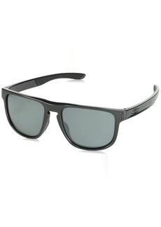 Oakley Men's Holbrook R Polarized Iridium Square Sunglasses Polished Black 55.0 mm