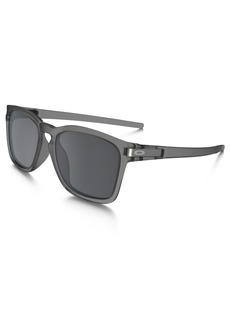 Oakley Men's Latch Sq (a) Non-Polarized Iridium Rectangular Sunglasses MATTE GREY INK