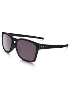 Oakley Men's Latch Sq (a) Polarized Iridium Rectangular Sunglasses