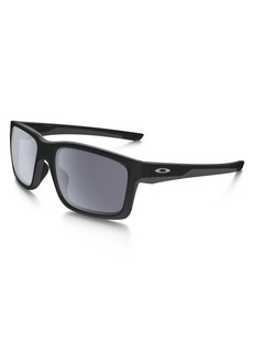 Oakley Men's Mainlink Rectangular Sunglasses Matte Black w/Grey 57 mm