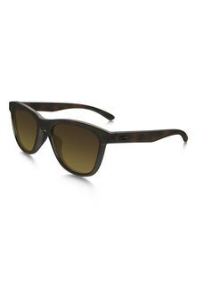 57475a87ff Oakley Oakley Men s Moonlighter Round Sunglasses Tortoise w Brown Gradient  Polarized 53 mm