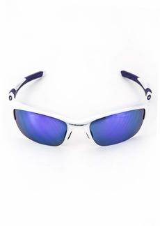 Oakley Men's Non-Polarized Half Jacket 2.0Oval SunglassesPearl Frame/Violet Iridium Lens 62 mm