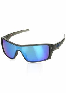 Oakley Men's Ridgeline Polarized Iridium Rectangular Sunglasses  0 mm