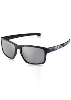 Oakley Men's Sliver Non-Polarized Iridium Rectangular Sunglasses