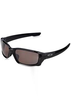 Oakley Men's Straightlink (a) Polarized Iridium Rectangular Sunglasses