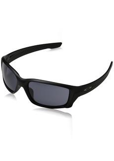 Oakley Men's Straightlink Rectangular Sunglasses Matte Black w/Grey 61 mm