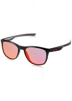 Oakley Men's Trillbe X Non-Polarized Iridium Rectangular Sunglasses POLISHED BLACK 52.0 mm