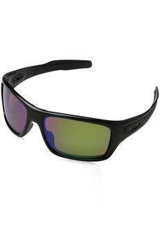 8fe5bbb0e9 Oakley Men s Turbine Polarized Iridium Rectangular Sunglasses POLISHED  BLACK 63.04 mm