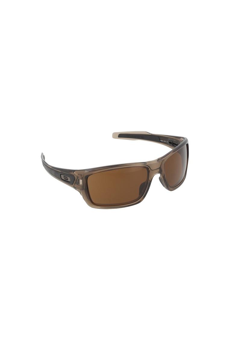 124fabefbf Oakley Oakley Men s Turbine 0OO9263 Rectangular Sunglasses BROWN ...