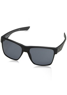Oakley Men's Two Face Xl Square Sunglasses Steel w/Grey  mm