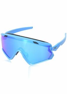 Oakley Men's Wind Jacket 2.0 Non-Polarized Iridium Rectangular Sunglasses  0 mm