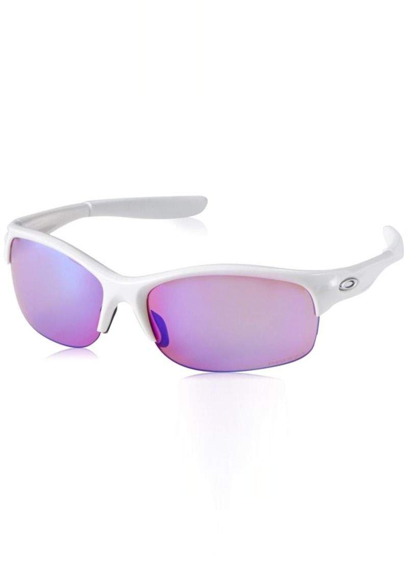 Oakley Women's Commit Squared Non-Polarized Iridium Cateye Sunglasses POLISHED WHITE
